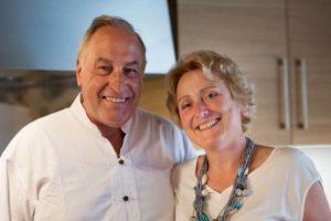 Caroline und Bruno, die Eigentümer der Pension La Roserie.