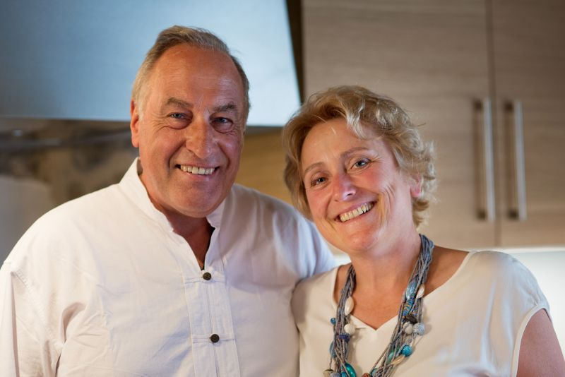 Caroline and Bruno, the owners of the La Roserie guest house.