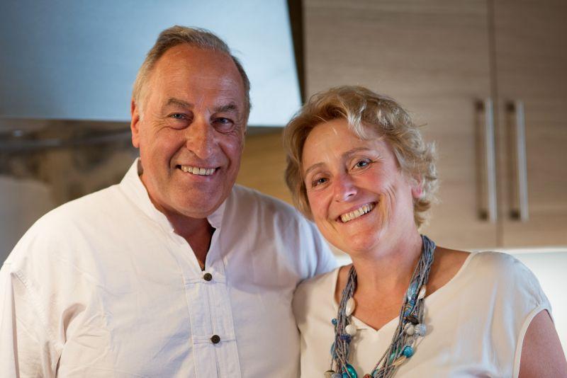 Caroline et Bruno, les propriétaires de la pension La Roserie.